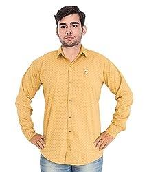 7 Buttons Men's Casual Shirt (s002_Yellow_Medium)