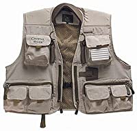 Crystal River Deluxe Fishing Vest (Brown, Large) by South Bend