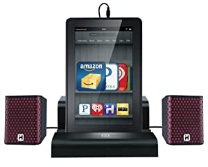 iHome iK8B SMARTDESIGN Rechargeable Portable Speakers with Travel Case/Stand for Kindle Fire, Black from Sound Design, Inc.