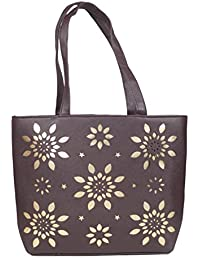 Urban Stitch Casual, Office Brown Leatherette Handbag