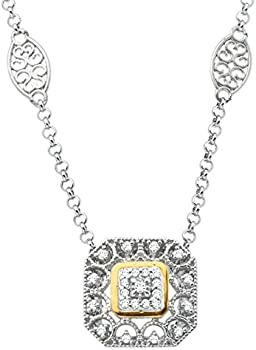 1/10 ct Diamond Filigree Necklace