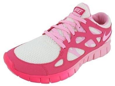 Nike Women's Free Run+ 2 EXT - Sail / Ion Pink-Pink Force, 6 B US