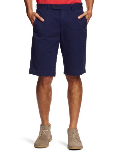 Brooks Brothers Garment Dyed Twill Men's Bermuda Shorts Blue W42 IN