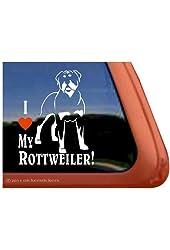 I Love My Rottweiler Vinyl Window Dog Decal Sticker