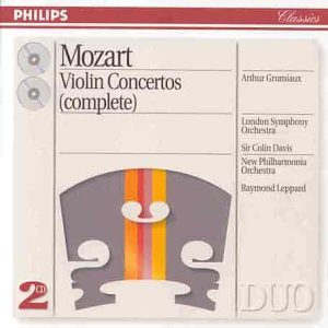 Mozart Complete Violin Concertos from Philips