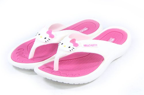 Hello Kitty Lovely Women Slippers Shoes for Girls Flip Flops Pink US Size 7 Summer Beach Pool Spa