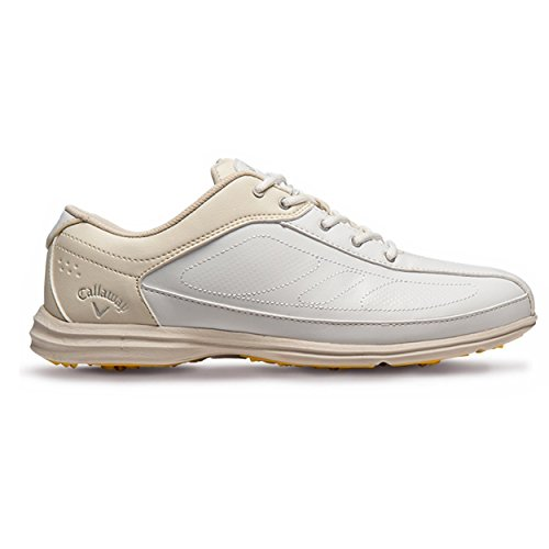 Callaway Footwear Women's Cirrus Golf Shoe, White/Bone, 8 W US