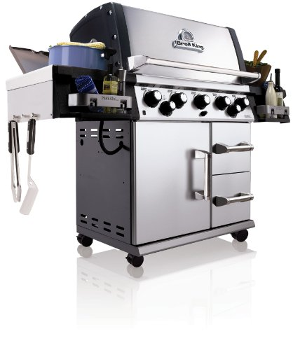 Broil King 958647 Imperial 590 Natural Gas Grill With Side Burner And Rear Rotisserie