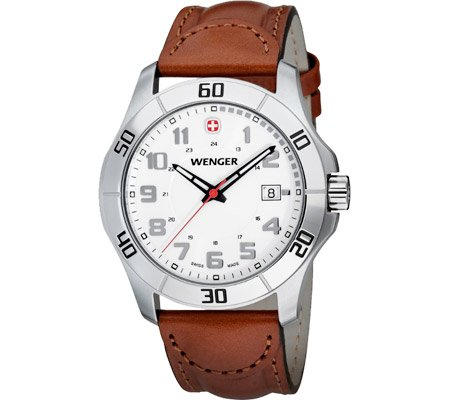 Men's Wenger 70485 Alpine Watch with Leather Band