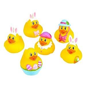 "Rhode Island Novelty 2"" Easter Bunny Rubber Duckies (12 Piece)"