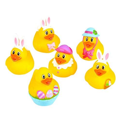"Rhode Island Novelty 2"" Easter Bunny Rubber Duckies (12 Piece) - 1"
