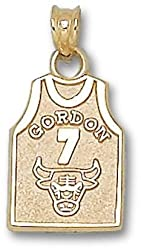 Chicao Bulls &quot;Gordon&quot; #7 Jersey 5/8&quot; Charm/Pendant