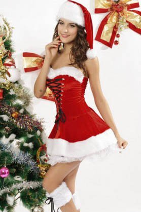Amazon.com: S Cloth Red Santa Babe Adult Women Sexy Miss Ms Mrs Claus