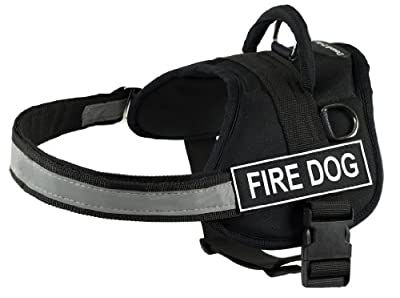 Dean Tyler Dt Works Fire Dog Harness L Black White by Dean & Tyler