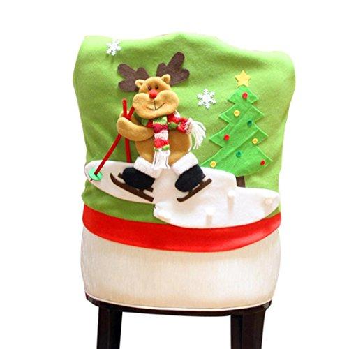Hussen-Oyedens-Weihnachten-Weihnachtsmann-Schneemann-Elch-Muster-Stuhlabdeckung-C