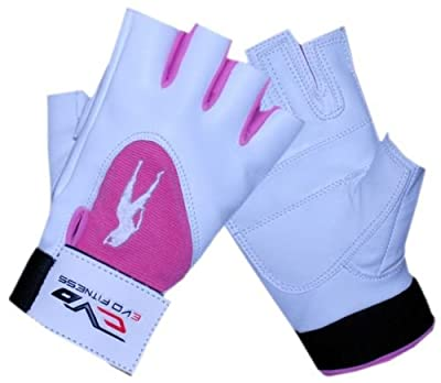 EVO Cow Hide Leather Pink Ladies Gym Gloves Cycling Weightlifting Wheelchair from EVO Fitness