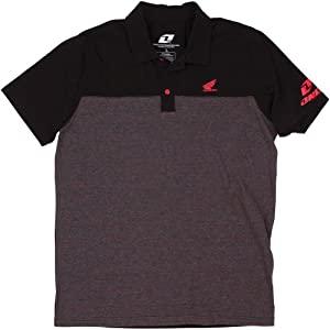 Honda Motorcycle Officially Licensed 1nd Bale Polo Men's Short-Sleeve Shirt - Black / 2X-Large