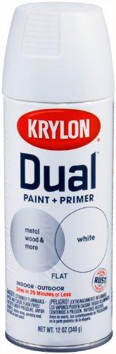 Krylon 8830 'Dual' Flat White Paint and Primer - 12 oz. Aerosol (White Aluminum Paint compare prices)