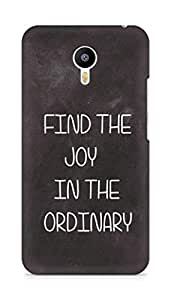 AMEZ find the joy in the ordinary Back Cover For Meizum 2 Note