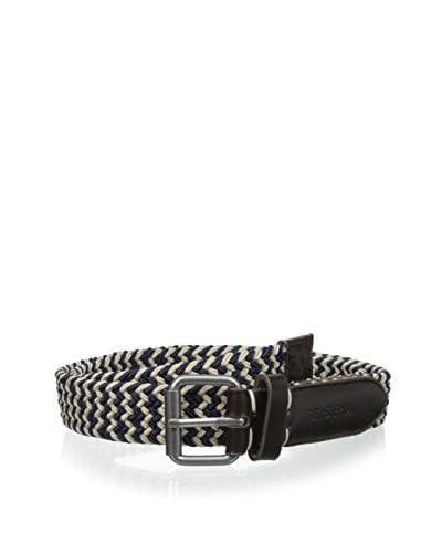 Ben Sherman Men's Elastic Stripe Belt