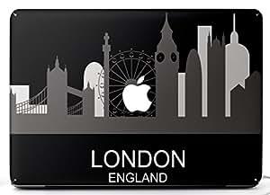 Wonderskins WSAir_11inch_0108 Macbook Pro 11inch Vinyl Skin with Apple Logo and Round Edges Cutout