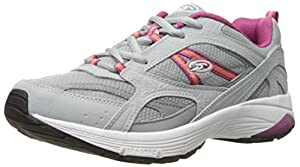 Dr. Scholl's Women's Curry Fashion Sneaker, Grey/Magenta Leather, 7 M US