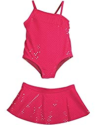 Baby Buns - Little Girls\'s 2PC SPF 50 Swimsuit Set, Pink 35405-2T