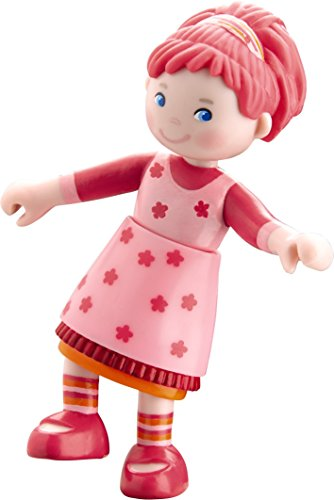 "HABA Little Friends Bendy Dollhouse Doll Lilli 4"" Pink Hair"