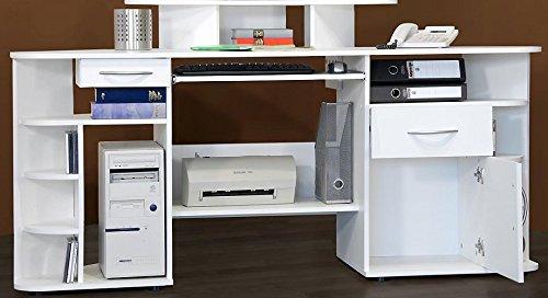 3-3-2-293: Bürotisch – made in BRD – PC-Tisch – Eckschreibtisch – perl-weiß jetzt kaufen