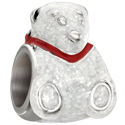 Authentic Chamilia Enamel Polar Bear Charm - 2020-0699