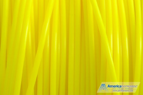 Jet - ABS (3mm, Yellow color, 1.0kg =2.204lbs) Filament on Spool for 3D Printer MakerBot RepRap MakerGear Ultimaker & Up!