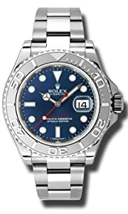 Rolex Yachtmaster Steel and Platinum Blue Dial Mens Watch 116622BLSO