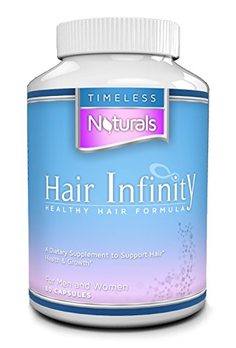 *Best Hair Growth Vitamins For Women, Men & Kids By Hair Infinity * Natural Biotin Treatment For Thinning Hair & Hair Loss Aid * Natural Dht Blocker * Supplement Also Acts As A Booster & Enhancer For Skin & Nails * 60 Capsules Per Bottle * Fast Acting Thi
