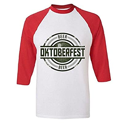 Oktoberfest Vintage Beer Logo Raglan Baseball T-Shirt
