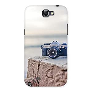 Cute Camera on Rock Multicolor Back Case Cover for Galaxy Note 2