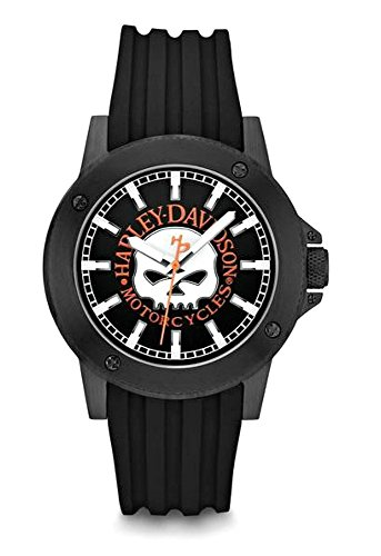 Harley-Davidson Men's Willie G. Skull Black Wrist Watch