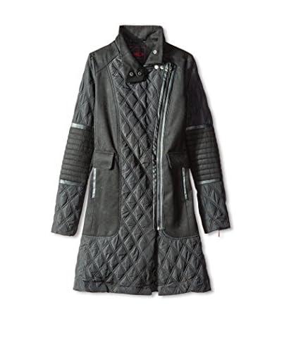 Yoki Women's Quilted Coat  [Black/Black]