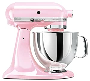 KitchenAid KSM150PSPK 5 Quart Stand Mixer, Pink