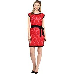 LY2 Red Color Western Wear for Smart Casual and Party Look