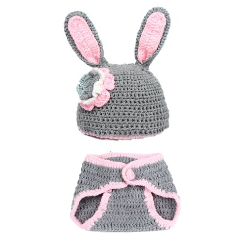 EOZY Baby Crochet Photography Photo Prop Costume 0-18 Months Cartoon Bunny