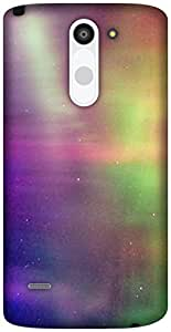 The Racoon Lean Aurora Borealis hard plastic printed back case / cover for LG G3 Stylus