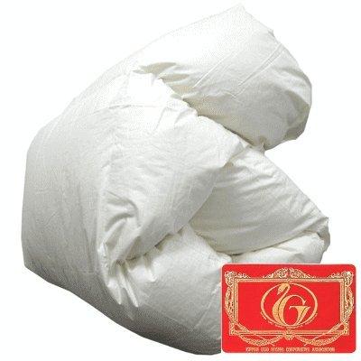 羽毛布団 エクセルゴールド ホワイトダックダウン90% 掛け布団 日本製 シングルロング(06361410)