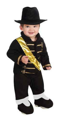 Michael Jackson Ez-On Romper Costume, Black, Infant (2)