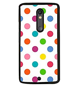Fuson Premium Colorful Circles Metal Printed with Hard Plastic Back Case Cover for Motorola Moto X Style