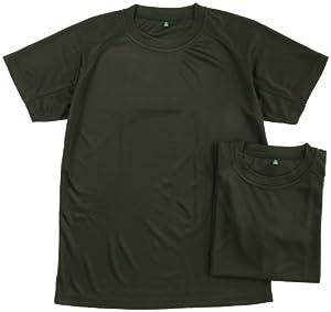 (ジェイエスディエフ)J.S.D.F クールナイス半袖Tシャツ2枚組(吸汗速乾)【自衛隊衣料】 6525  OD L