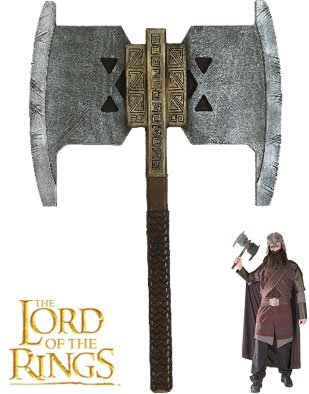 Adults Gimli Axe Lord of the Rings Accessory
