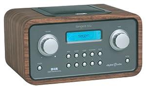 tangent 11062trio wallnut dab radio with alarm clock tv. Black Bedroom Furniture Sets. Home Design Ideas
