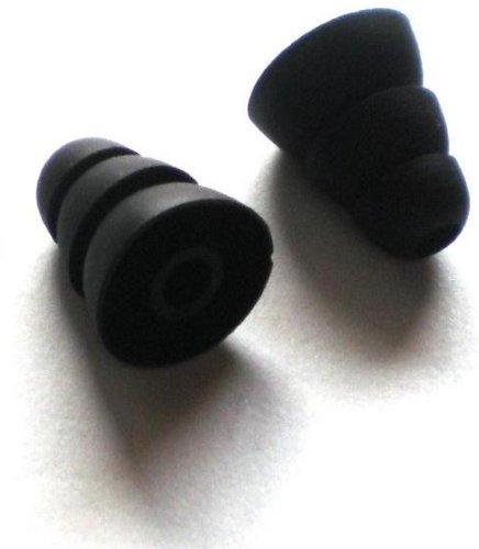 2Pcs Large Long Black Earbuds For Skullcandy Fix In-Ear , Titan , Fix Bud , Nba Ink'D 2 , Ink'D 2 In-Ear Headphones Mobile Hands-Free Headset Wired Eargels Eartips Ear Buds Gels Tips Bud Gel Tip