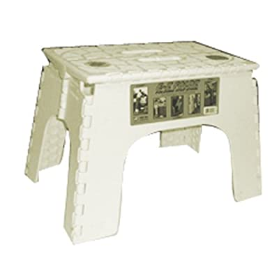 "B&R Plastics 104-6BG Beige 12"" EZ Foldz Step Stool - Pack of 6"