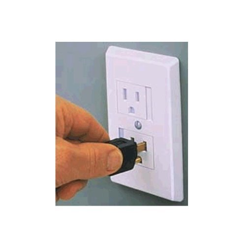 Safe Plate for Electric Outlet - Bulk 50 Pack - White with Single Screw - 1
